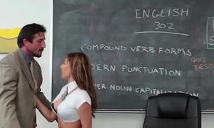 Dicksucking schoolgirl receives say no to muff gangbanged